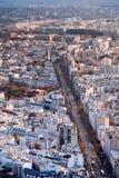 Sopra la vista su Parigi Immagine Stock