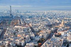 Sopra la vista su Parigi Fotografie Stock Libere da Diritti