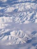 Sopra le alpi del sud della Nuova Zelanda Immagine Stock