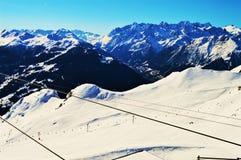 Sopra le alpi svizzere Fotografia Stock