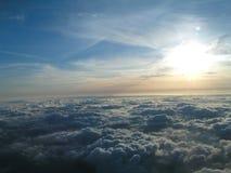 Sopra le nubi fotografie stock