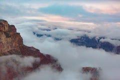 Sopra le nuvole @ Grand Canyon Fotografia Stock Libera da Diritti