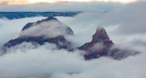 Sopra le nuvole @ Grand Canyon Immagini Stock