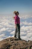 Sopra le nuvole Kilimanjaro Fotografia Stock