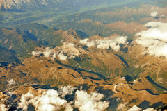Sopra le nuvole, montains Fotografie Stock