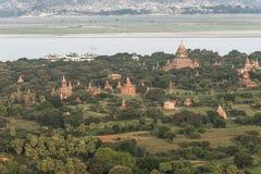 Sopra le tempie di Bagan Fotografie Stock Libere da Diritti