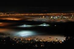 Sopra nebbia variopinta Immagine Stock