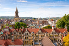 Sopra Oxford. L'Inghilterra Fotografia Stock