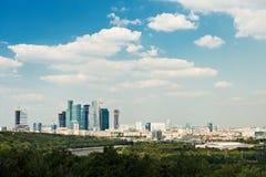 Sopra paesaggio urbano di Mosca di vista Fotografia Stock