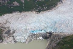 Sopra Taku Glacier, Juneau, Alaska fotografia stock