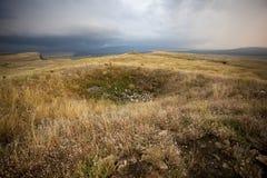 Sopra un monticello di sepoltura di Scythian Immagini Stock Libere da Diritti