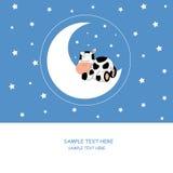 Sopra una mucca della mucca di sonno royalty illustrazione gratis