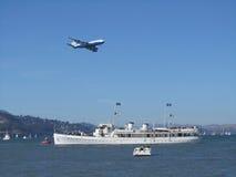 777 sopra USS fluviale Fotografia Stock Libera da Diritti