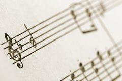 sopranów clef Fotografia Royalty Free