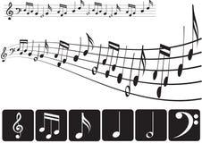 sopranów clef Obrazy Stock