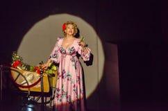 Soprana na scenie Zdjęcie Royalty Free