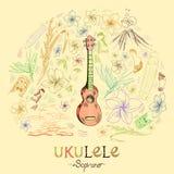 Soprano delle ukulele royalty illustrazione gratis