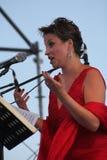 Soprano do schillaci de Daniela do cantor de Opera (La Scala, Italia), na fase aberta Imagens de Stock Royalty Free