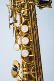 Soprano Sax Bottom Half Royalty Free Stock Image