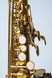 Soprano Sax Top Half Royalty Free Stock Photo