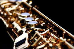 Soprano Saxophone. Close up of a soprano saxophone Stock Photos