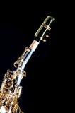 Soprano Saxophone Isolated On Black Royalty Free Stock Images