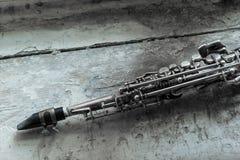 Soprano saxophone Royalty Free Stock Images