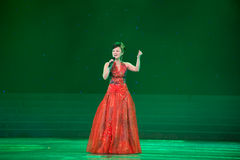 Soprano solo performance, hu bing. March 2, 2011. a reflection of Jiangxi original ecological humanities landscape of large style song and dance the wind in Stock Images