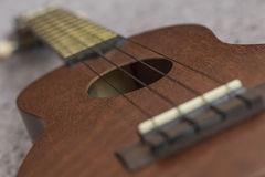 Soprano Ukelele. An exotic wooden stringed instrument of the Hawaiian Islands Royalty Free Stock Photos