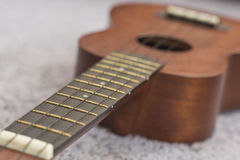 Soprano Ukelele. An exotic wooden stringed instrument of the Hawaiian Islands Stock Images