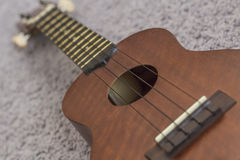Soprano Ukelele. An exotic wooden stringed instrument of the Hawaiian Islands Stock Photography