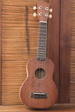 Soprano Ukelele. An exotic wooden stringed instrument of the Hawaiian Islands Royalty Free Stock Image