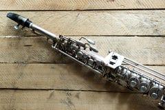Sopranowy saksofon Zdjęcia Royalty Free