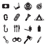 Sopravvivenza Kit Icons Fotografia Stock Libera da Diritti