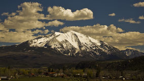 Sopris Mountain. Covered in snow royalty free stock photo