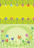 Sopro colorido da flor das camadas ilustração do vetor