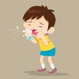 Sopro da criança o nariz ilustração royalty free