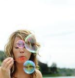 Sopro das bolhas Imagem de Stock