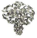 Sopro do dinheiro Imagem de Stock Royalty Free