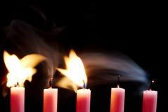 Sopro em velas Imagem de Stock