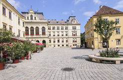 Sopron hungary europe fo ter. View of the main square of sopron fo ter Royalty Free Stock Image