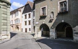Sopron hungary europe foreshortening. View of one foreshortening of center of sopron Stock Photography