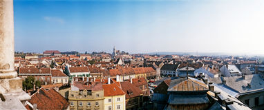 Sopron, Hungary. Panoramatic view of Sopron in Hungary Stock Photos