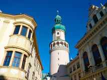 Sopron, Hungary. Tower in the center of town, Sopron Royalty Free Stock Photography