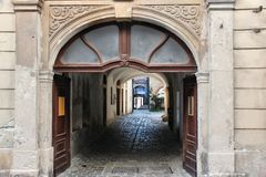 Sopron, Hungary. Sopron, town in Hungary. Old town passage Stock Images