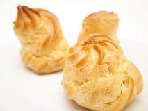 Sopros da pastelaria dos Choux Fotografia de Stock