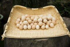 Sopskyffel och ägg Arkivfoto