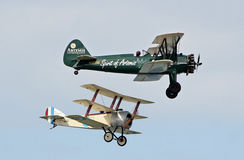 Sopwith camel and boeing stearman Royalty Free Stock Photos