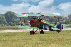 Sopwith Pup. PARDUBICE, CZECH REPUBLIC - 1 June 2014: British Sopwith Pup aircraf in aviation fair and century air combats, Pardubice, Czech Republic on 1 June Stock Image