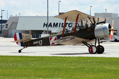 Sopwith Snipe. At the Hamilton Airshow at the Hamilton Airshow Royalty Free Stock Image